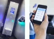 Mit den IT-basierten Waschraumdiensten Bloe und EasyCube sind Reinigungsfachkräfte immer über den Zustand der Toiletten informiert.