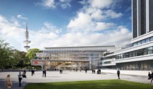 Visualisierung der CCH Ostansicht. Bild: agn Leusmann GmbH/ Tim Hupe Architekten