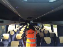 Reisebus von Stansted Citylink; Bild: Dr. Sasse AG