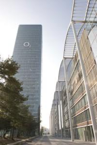 Telefónica-Deutschland-Zentrale: O2-Tower in München. Bild: Telefónica Deutschland