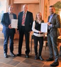 v.l.n.r.: Dieter H. Laarmann (S&I - Geschäftsführer), Heinrich Staudigl (ZDH-Zert GmbH - Stellvertretender Geschäftsstellenleiter), Katharina Hinz (S&I – Qualitätsmanagementbeauftragte), Andreas Ludwigs (S&I - Geschäftsführer)