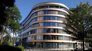 Die Verwaltungszentrale der Süwag Energie AG in Frankfurt-Höchst.