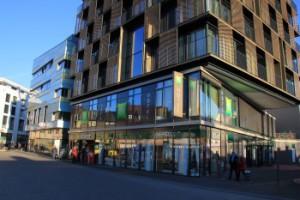 Der Gebäudekomplex aus Sicht der Inselstraße 14. Bild: Bilfinger Real Estate