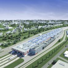 Im Juni 2017 soll das ICE-Instandhaltungswerk in Köln-Nippes fertig sein. Bild: Deutsche Bahn AG