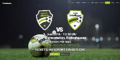 ambrosia, Friends for Fans, Facility Services, Tapfere Kinder, Callmund, Benefiz, Fußball, Europameisterschaft, FM, EM