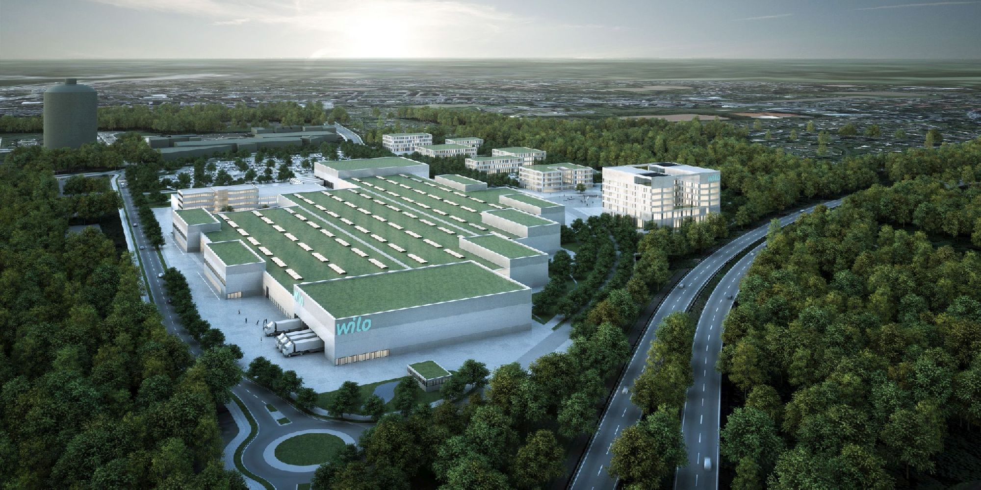 Produktionshalle, Wilo Smart Factory, Dortmund