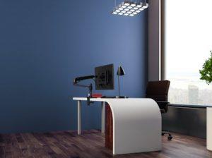 LX LCD arm blue office Schreibtisch