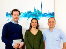 Das Management des Unternehmens: Philipp Andernach, Elsa Cordonnier und Hanspeter Wehle. Bild: Service Partner One