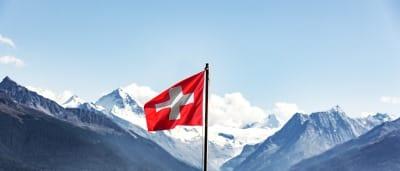 Schweizer Flagge im Wallis