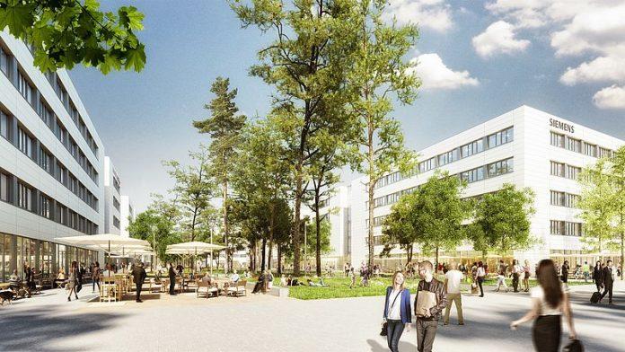 Rendering Siemens Campus Erlangen. Bild: Siemens Real Estate