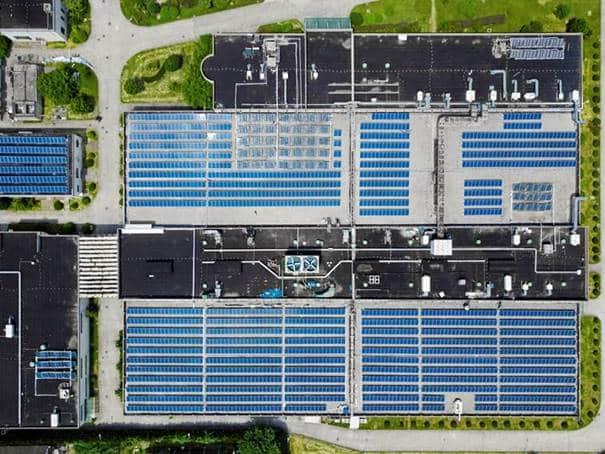 Fotovoltaikanlage von oben. Bild: Ultimo Software Solutions Group