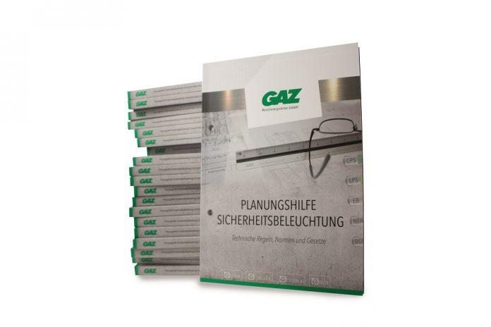 """Die GAZ hat das neue """"Planungshandbuch Sicherheitsbeleuchtung"""" veröffentlicht. Bild: GAZ Notstromsysteme GmbH"""