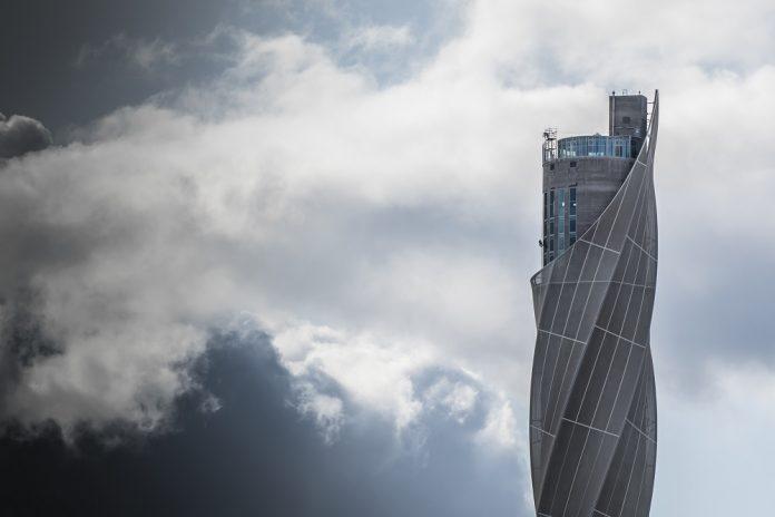 Außenansicht des 246 Meter hohen Testturms der Wisag. Bild: Wisag