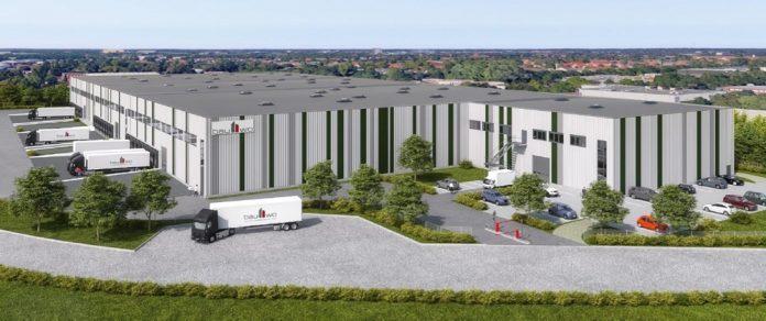Rendering des im Bau befindlichen Logistikzentrums in Hannover. Bild: LIP Invest