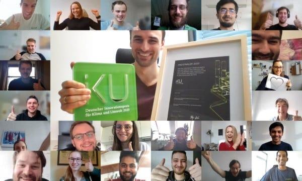 Das Vilisto-Team feierte aus dem Home Office den Gewinn des Deutschen Innovationspreises. Bild: Vilisto