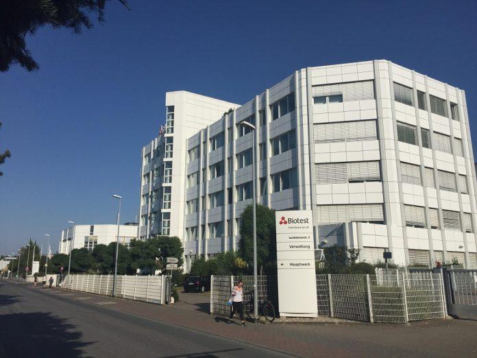 Die Konzernzentrale der Biotest AG. Bildnachweis: Biotest AG