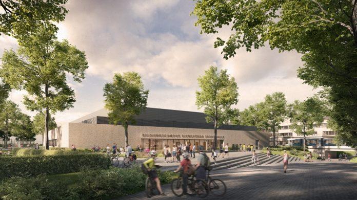Rendering des Bildungscampus Riensförde. Bild: rendertaxi/gmp Architekten
