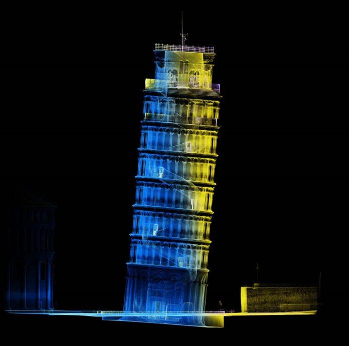 Die digitale Aufnahme des Schiefen Turms von Pisa. Bild: Dotscene