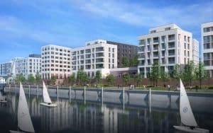 Strabag erhält Auftrag im Quartier der Generationen in der Hamburger HafenCity/Baakenhafen. Bild: Bloomimages/GWG/Ditting