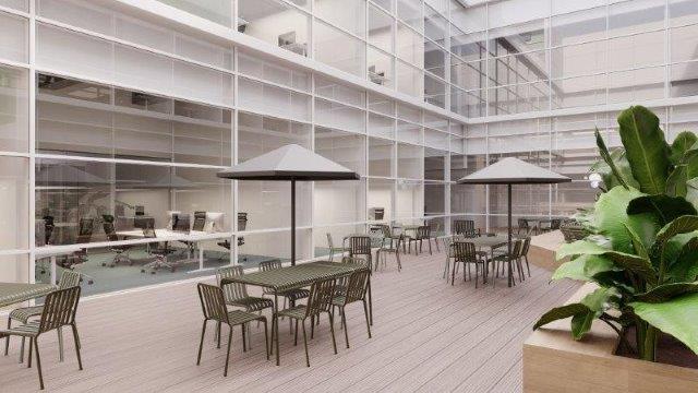 In Mannheim wird die einstige Retailfläche umgenutzt und soll künftig auch Open Spaces und offene Arbeitsbereiche bieten. Bild: beyond Visual Arts