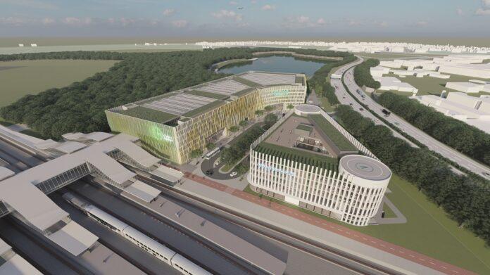 Der Euref-Campus bietet künftig 40.000 qm Fläche für unterschiedliche Unternehmen. Bild: Euref AG