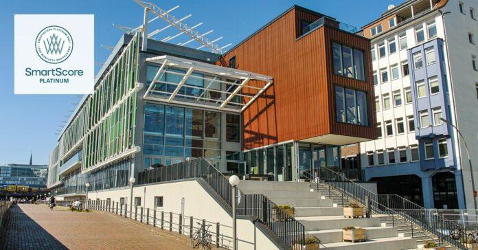 Der Hammerbrooklyn Digital Pavillon in Hamburg. Bild: Nils Döring/Art-Invest Real Estate